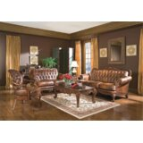 Daosta 3 Piece Leather Living Room Set (Set of 3) by Andrew Home Studio