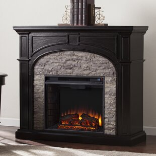 Contreras Faux Stone Electric Fireplace By Belfry Heating