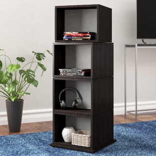 Rotating Multimedia Cube Storage Tower