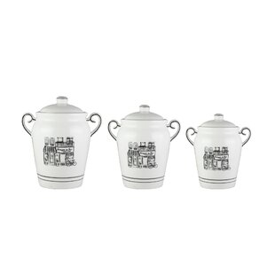 Le Bistro 3 Piece Kitchen Canister Set