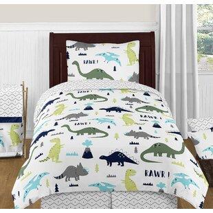 Mod Dinosaur 4 Piece Comforter Set
