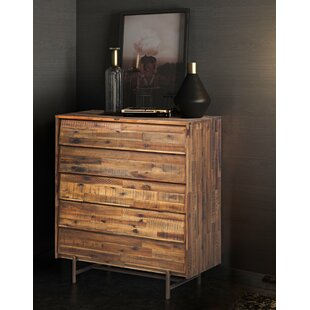 Best Reviews Clover 5 Drawer Standard Dresser/Chest by Foundry Select