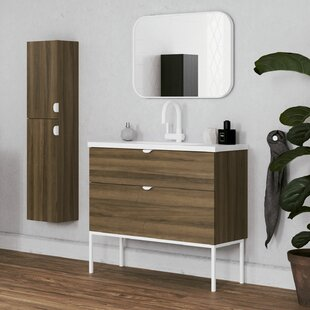 Bronx Murrah 1016mm Free-Standing Single Vanity Unit By Ebern Designs