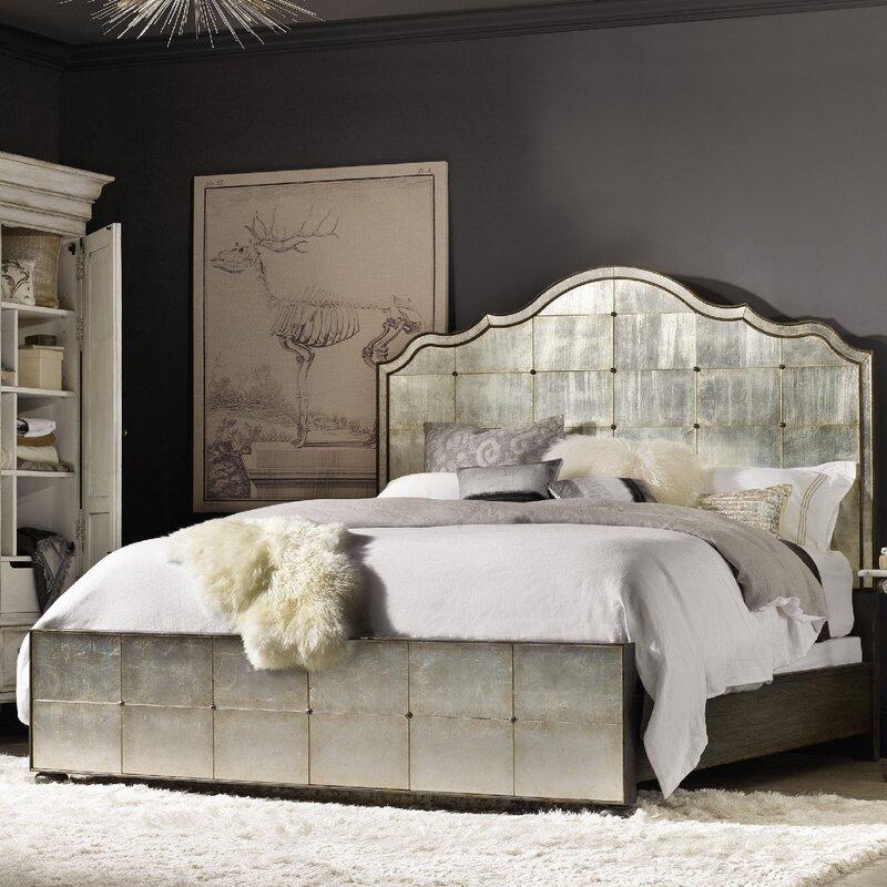 Hooker Furniture Arabella Mirrored Standard Bed Reviews Wayfair