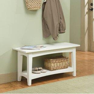 Bel Air Wood Storage Bench Alcott Hill