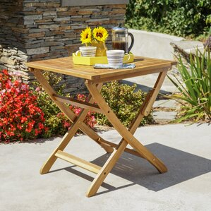 charlemont outdoor foldable wood bistro table