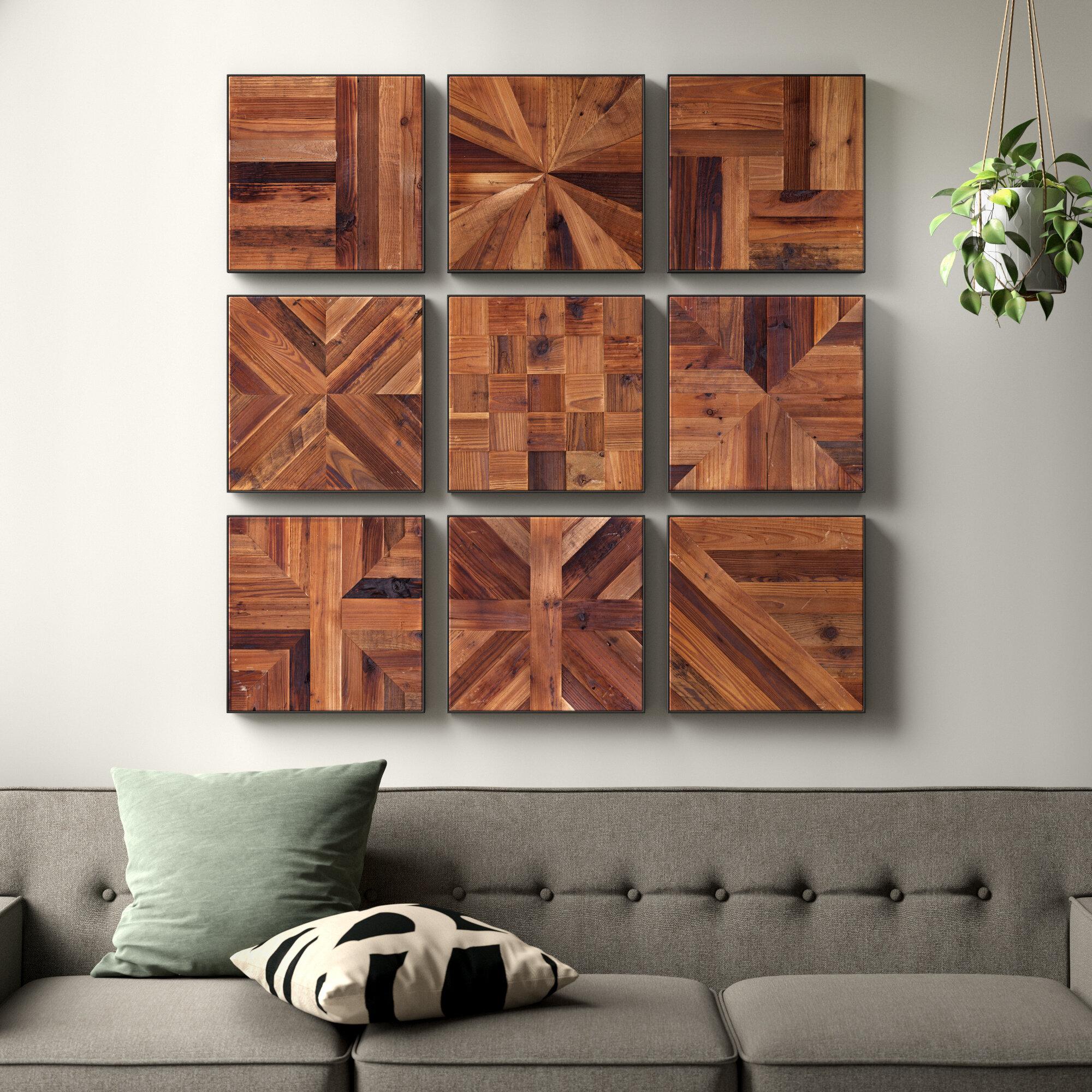 Allmodern Ted Piece Reclaimed Wood Wall Decor Set Reviews Wayfair
