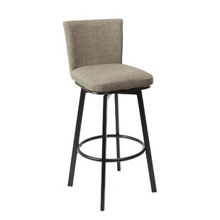 Ballance Upholstered Adjustable Height Swivel Bar Stool Winston Porter