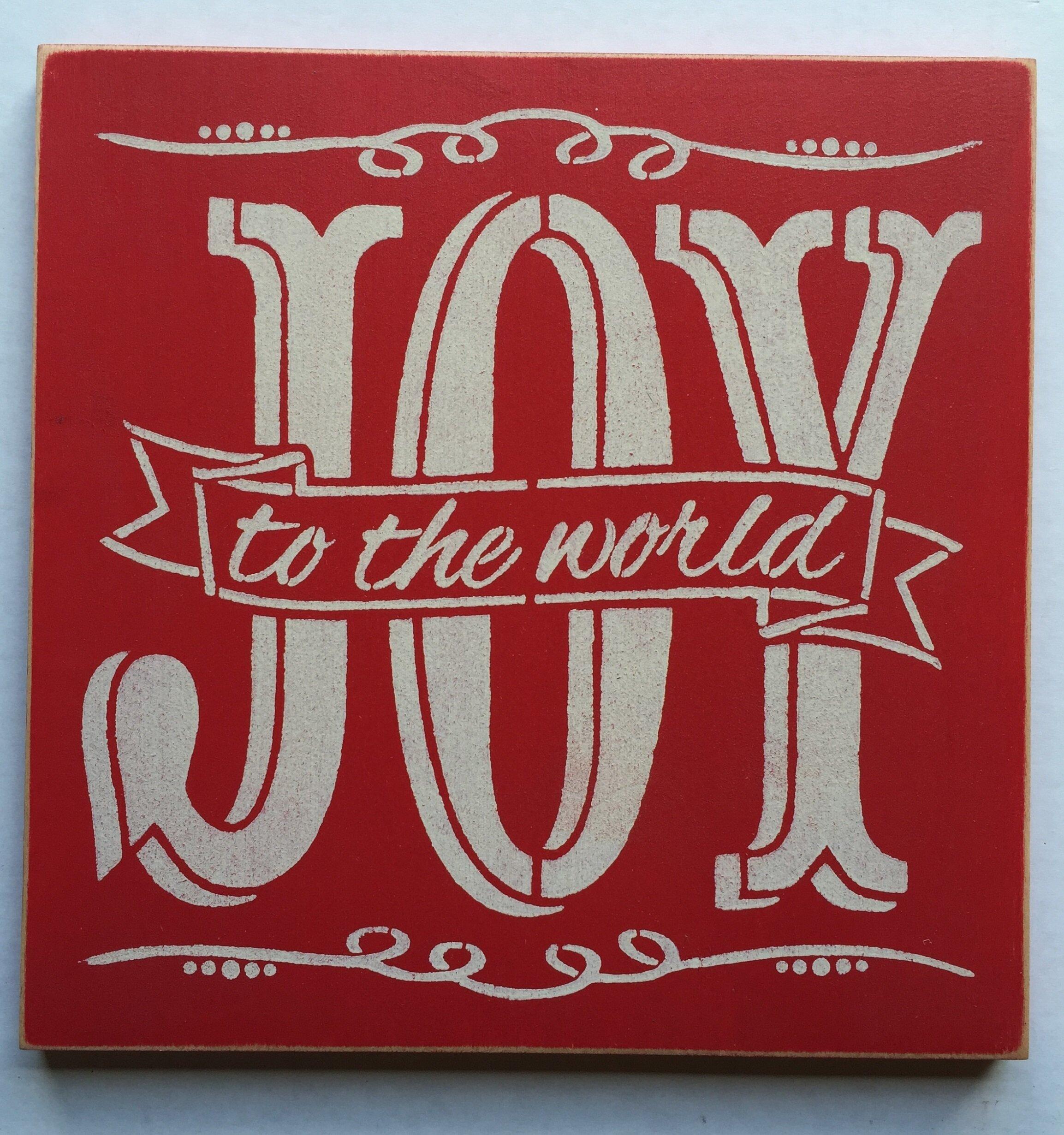 Sarassigns Joy To The World Textual Art On Wood Wayfair