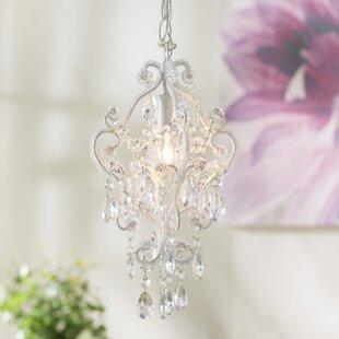 House of Hampton Alida 1-Light Crystal Pendant