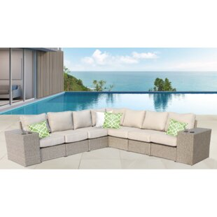 Brayden Studio Rikard 9 Piece Sectional Set with Cushions