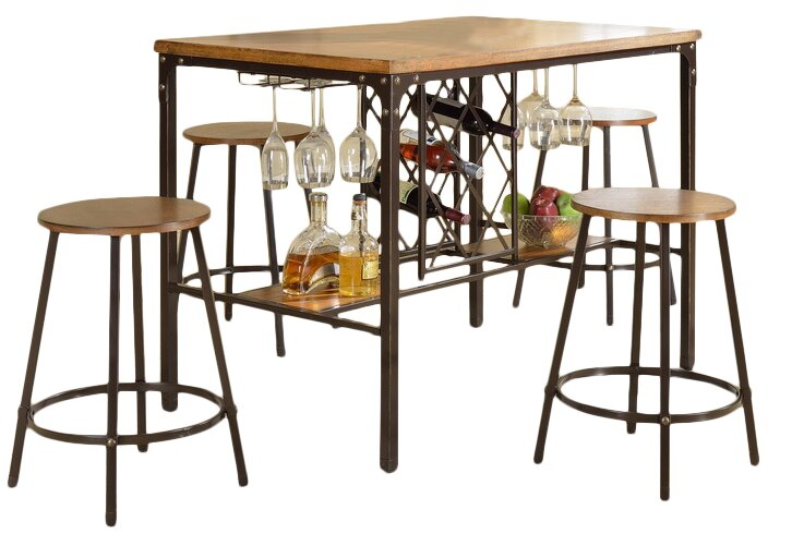 Bradley 5 Piece Pub Table Set