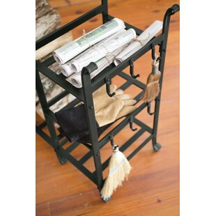 All-in-One Wood Log Rack By Plow & Hearth