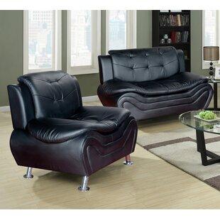 Orren Ellis Jung Modern 2 Piece Living Room Set
