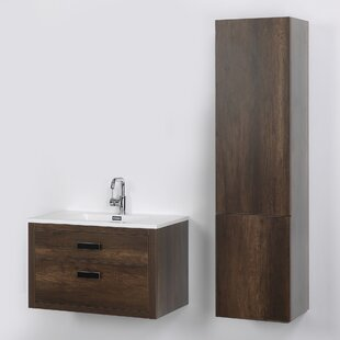 32 Inch Wall Mounted Vanity | Wayfair Wall Mount Vanities For Bathrooms on wall mount white bathroom vanities, wall mount bathroom shelves, wall mounted bathroom cabinet, wall mount soap dispensers for bathrooms, wall mount bathroom designs, wall mount vanity sets, wall mount towel racks for bathrooms, wall mount bathroom lighting,