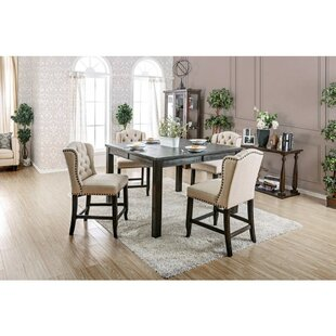 Duley 5 Piece Pub Table Set Gracie Oaks