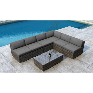 Gilleland 7 Piece Sectional Set with Sunbrella Cushion