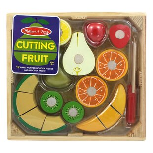 18 Piece Play Food Cutting Fruit Crate Set By Melissa & Doug