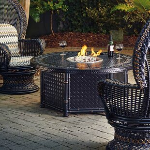 Marimba Wicker Propane Fire Pit Table