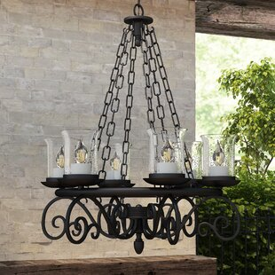 Biloxi 5-Light Wagon Wheel Chandelier By Fleur De Lis Living Outdoor Lighting