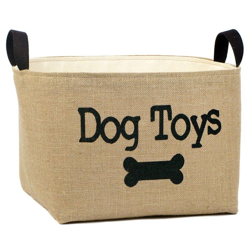 Dog Toys  Burlap Storage Basket.    sc 1 st  Wayfair & asouthernbucket