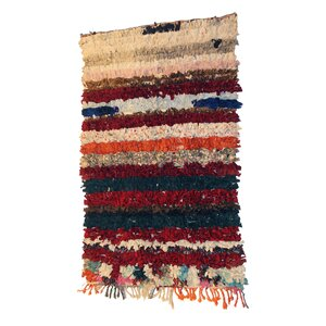 Boucherouite Azilal Hand-Woven Brown/Ivory Area Rug