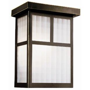 Reviews Garden Box 1-Light Outdoor Flush Mount By TransGlobe Lighting