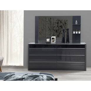 Glastonbury 6 Drawer Double Dresser with Mirror