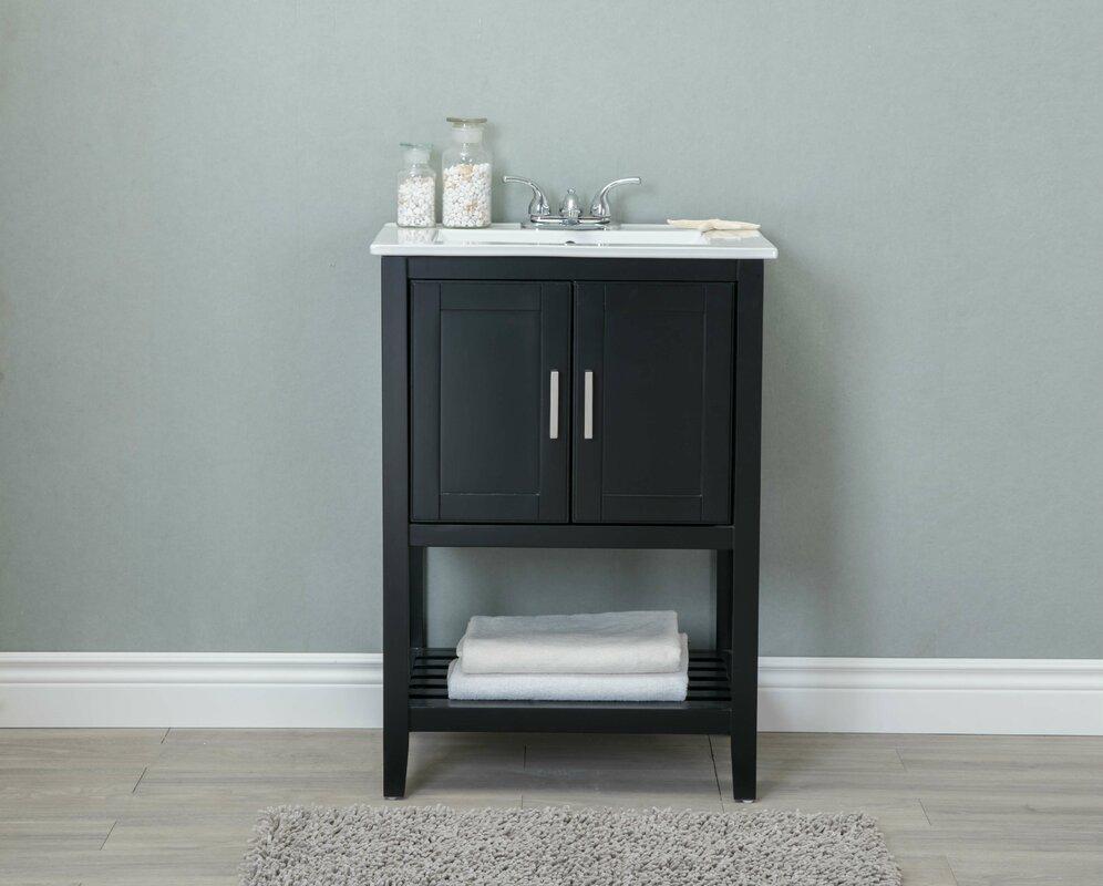 Single bathroom cabinets - Andover Mills Reynal 24 Single Bathroom Vanity Set Reviews Wayfair