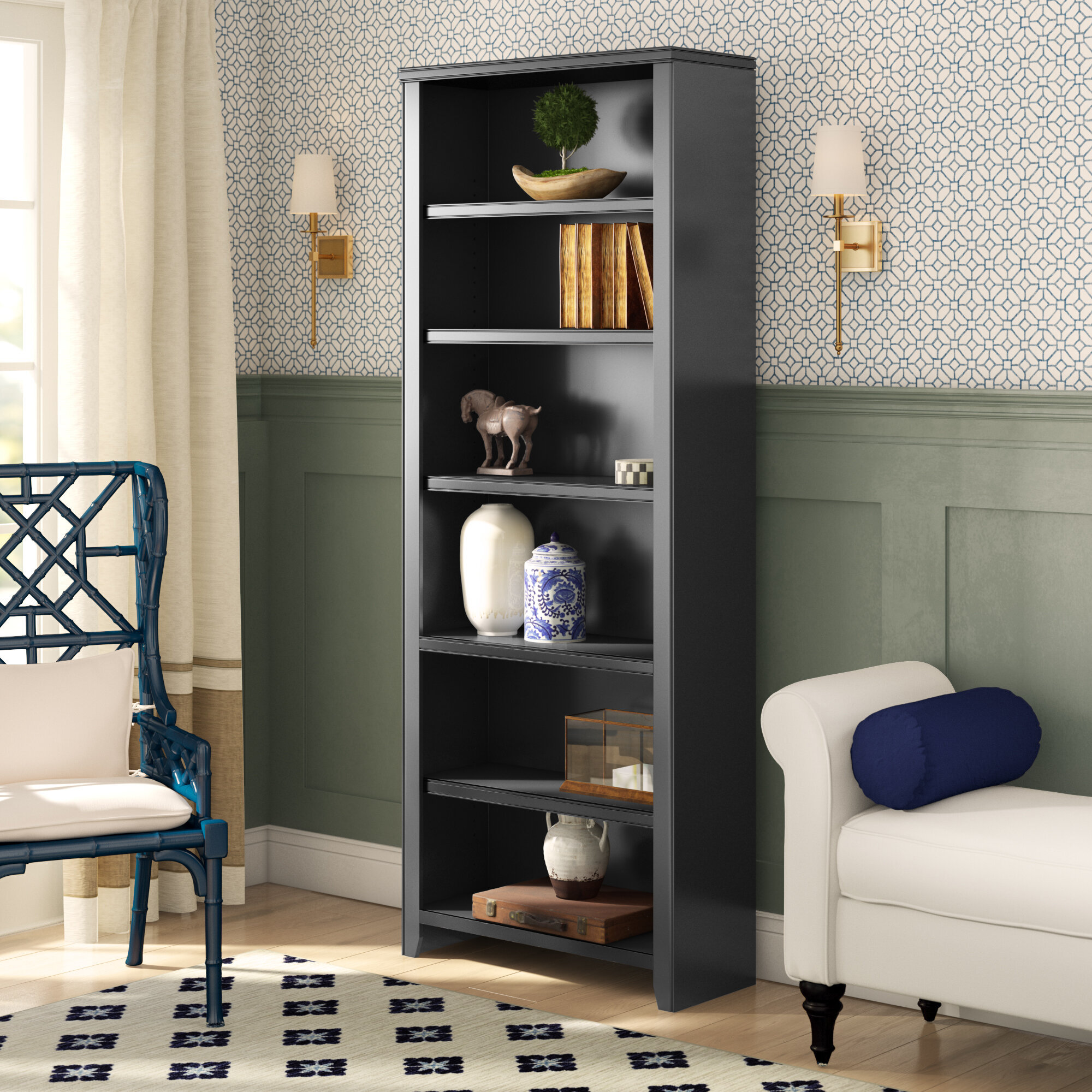 Winston Porter Armina Standard Bookcase Reviews Wayfair