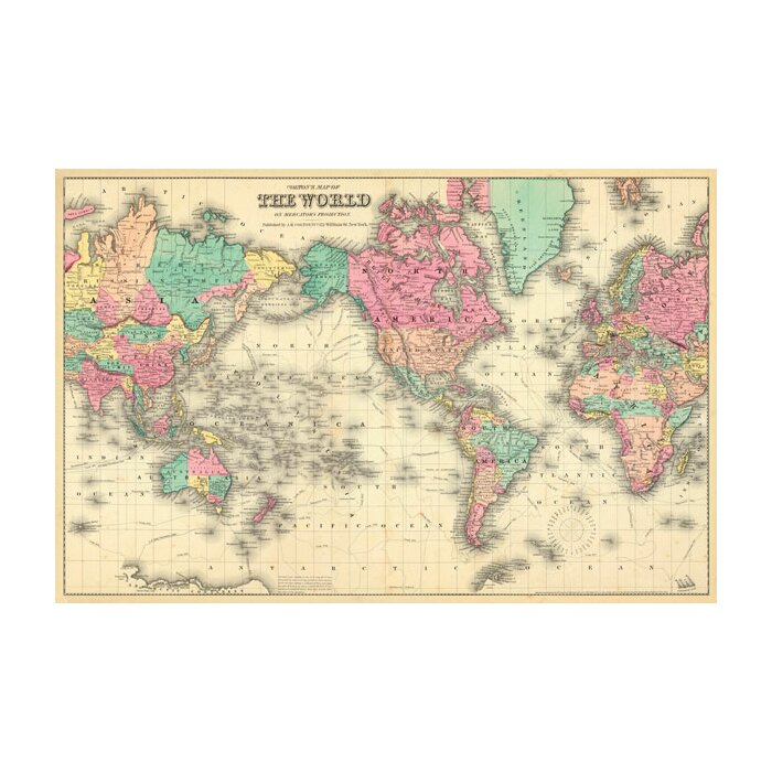 Colourful World Map Wall Mural