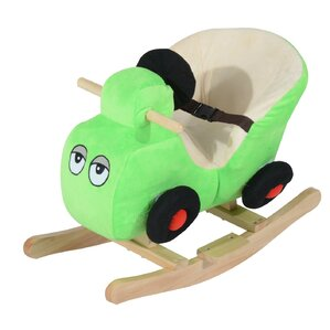 Kids Plush Rocking Horse Car With Nursery Rhyme Sounds