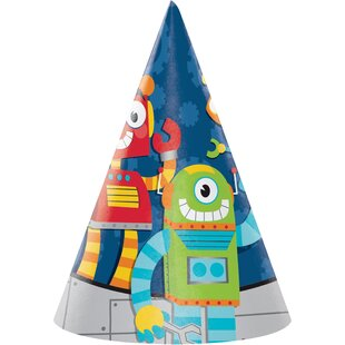 Robot Hat Paper Disposable Party Favor (Set of 24)
