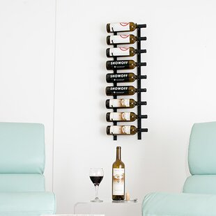Discount 9 Bottle Wall Mounted Wine Rack