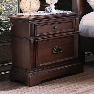 Read Reviews Greenbaum 2 Drawer Nightstand by Astoria Grand