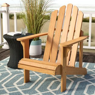 Highland Dunes Burgess Solid Wood Adirondack Chair