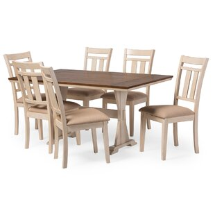 Swaffham 7 Piece Dining Set Highland Dunes