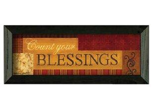 u0027Count Your BlessIngsu0027 Framed Graphic Art  sc 1 st  Wayfair & Count Your Blessings Wall Art | Wayfair