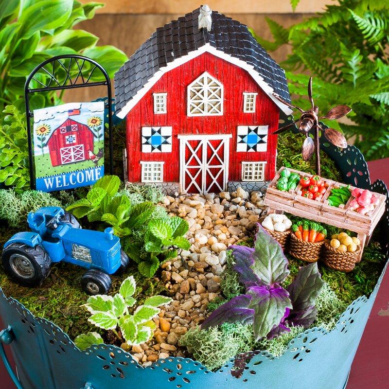 4 Piece Welcome To My Farm Mini Garden Set