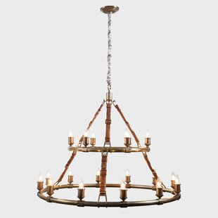 17 Stories Cote 18-Light LED Wagon Wheel Chandelier
