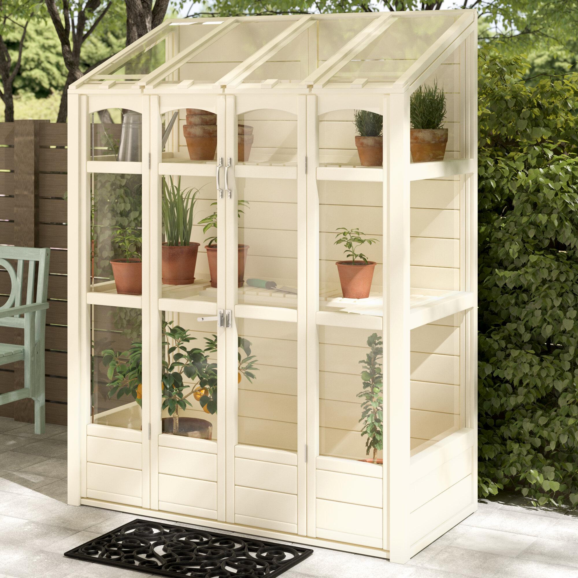 Bel étage 5 ft w x 2 ft d lean to greenhouse reviews wayfair co uk