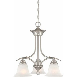 Whetsel 3-Light Shaded Chandelier by Fleur De Lis Living