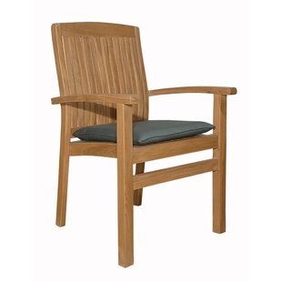 Mccarty Stacking Teak Patio Dining Chair (Set Of 4) by Rosecliff Heights 2019 Sale