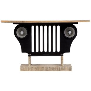 Durkee Black Jeep Console Table
