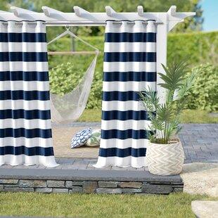 Hamilton Striped Outdoor Grommet Curtain Panels Set Of 2