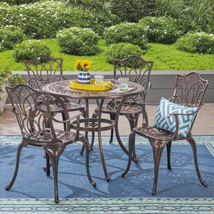 Brittnie Outdoor 5 Piece Dining Set