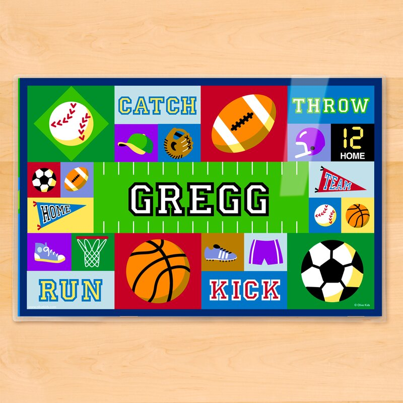 olive kids game on personalized placemat reviews wayfair