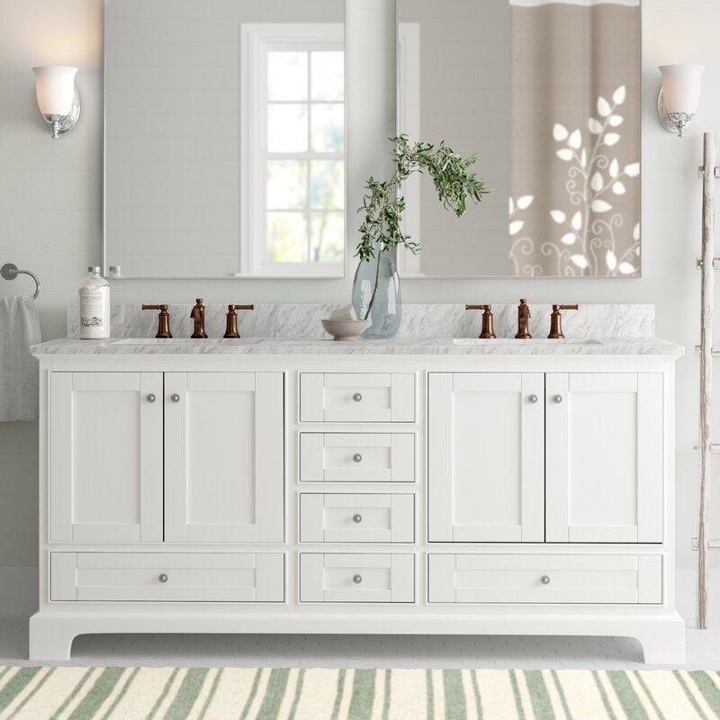 Shop Vanity Art 72 Double Sink Bathroom Vanity Set Super White Phoenix Stone Top Soft Closing Doors Undermount Sink With Free Mirror Overstock 12364456
