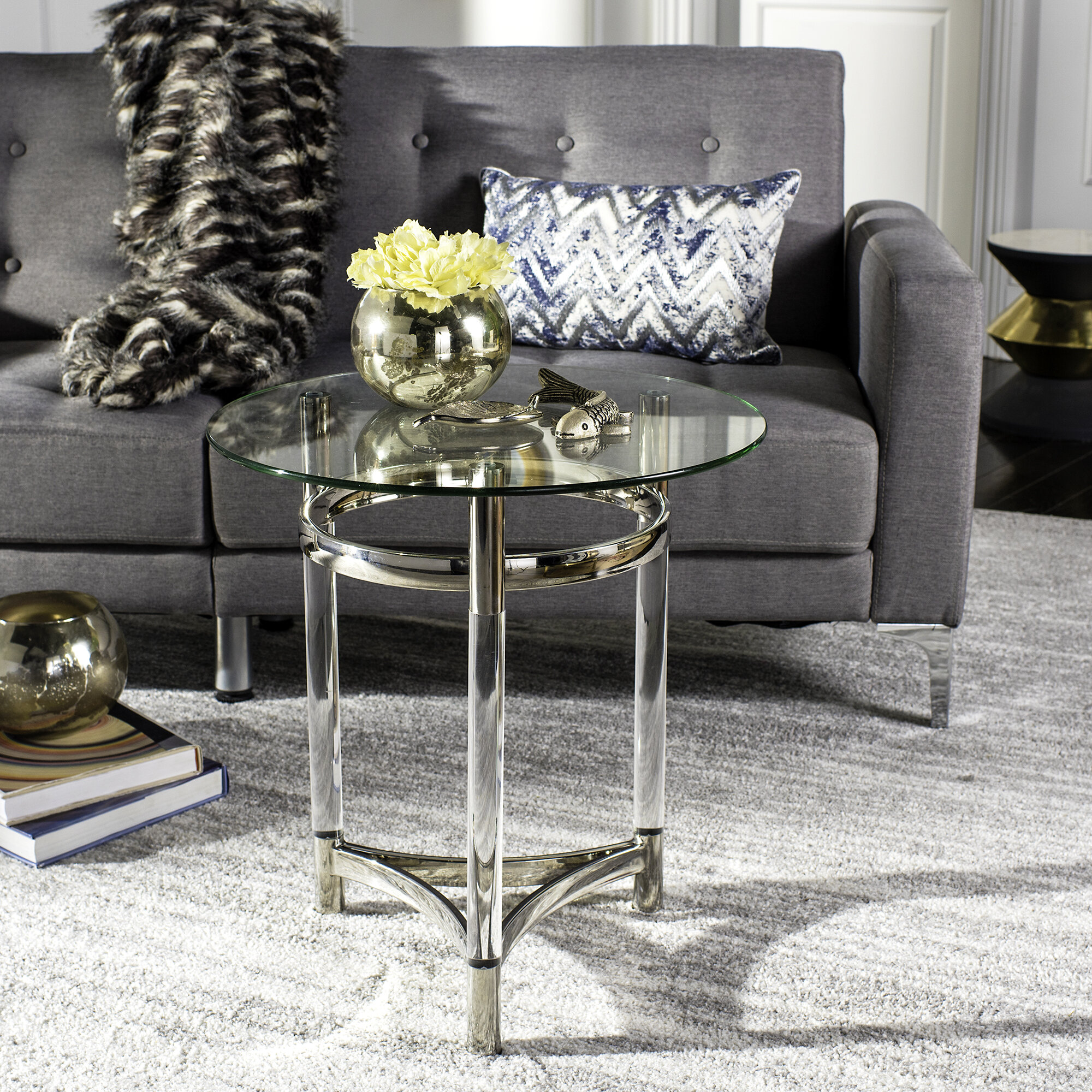 Plastic Acrylic Silver End Side Tables You Ll Love In 2021 Wayfair