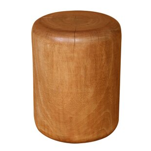Natural Wood Plug Accent Stool by Asian Art Imports